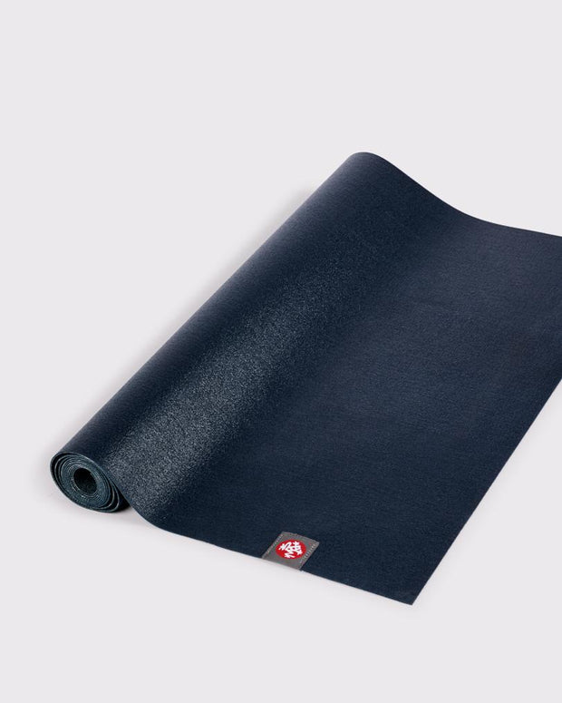 Manduka eKO Superlite 1.5mm Yoga Mat - Midnight - part rolled | Eco Yoga Store