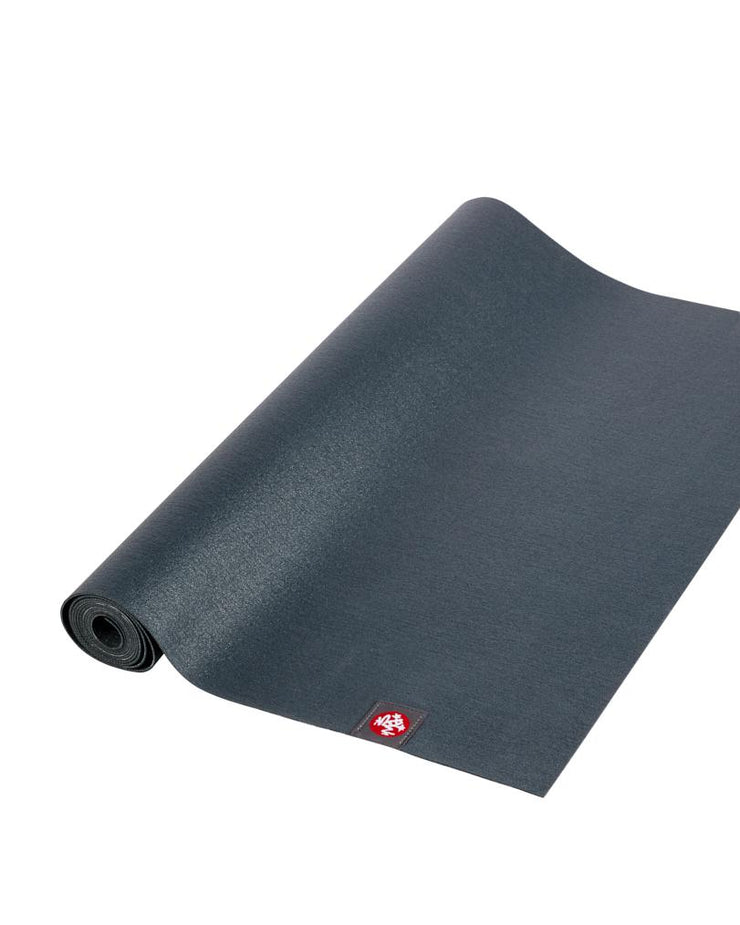 Manduka eKO Superlite 1.5mm Yoga Mat - Charcoal - part rolled | Eco Yoga Store