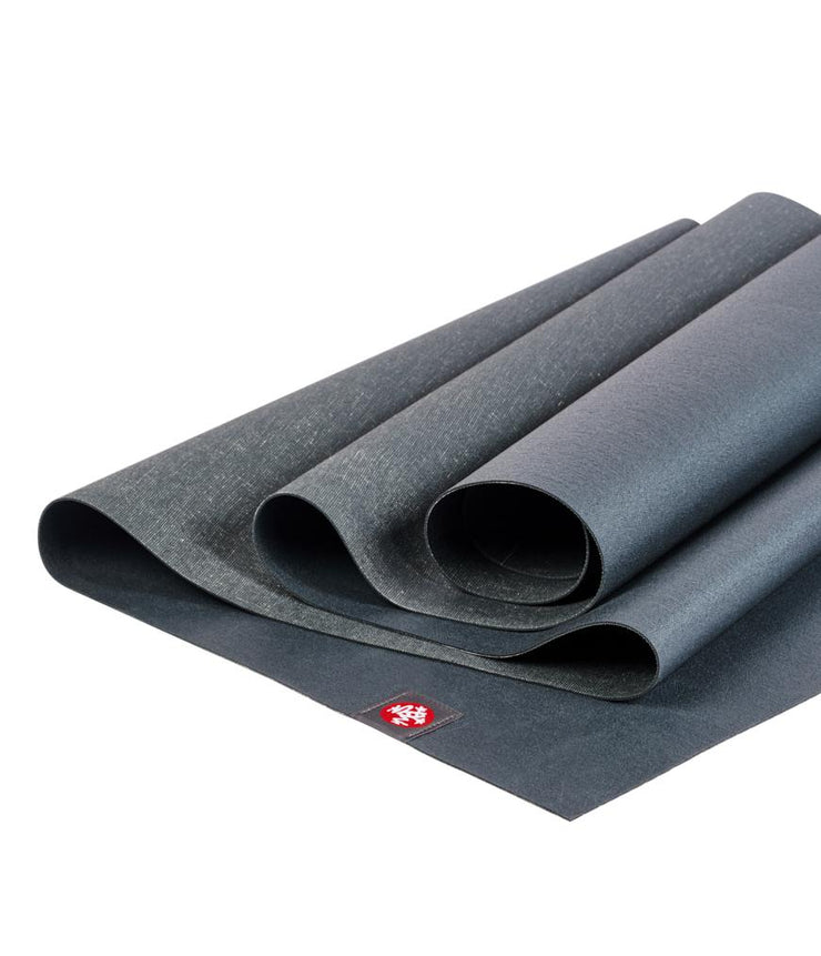 Manduka eKO Superlite 1.5mm Yoga Mat - Charcoal - folded | Eco Yoga Store