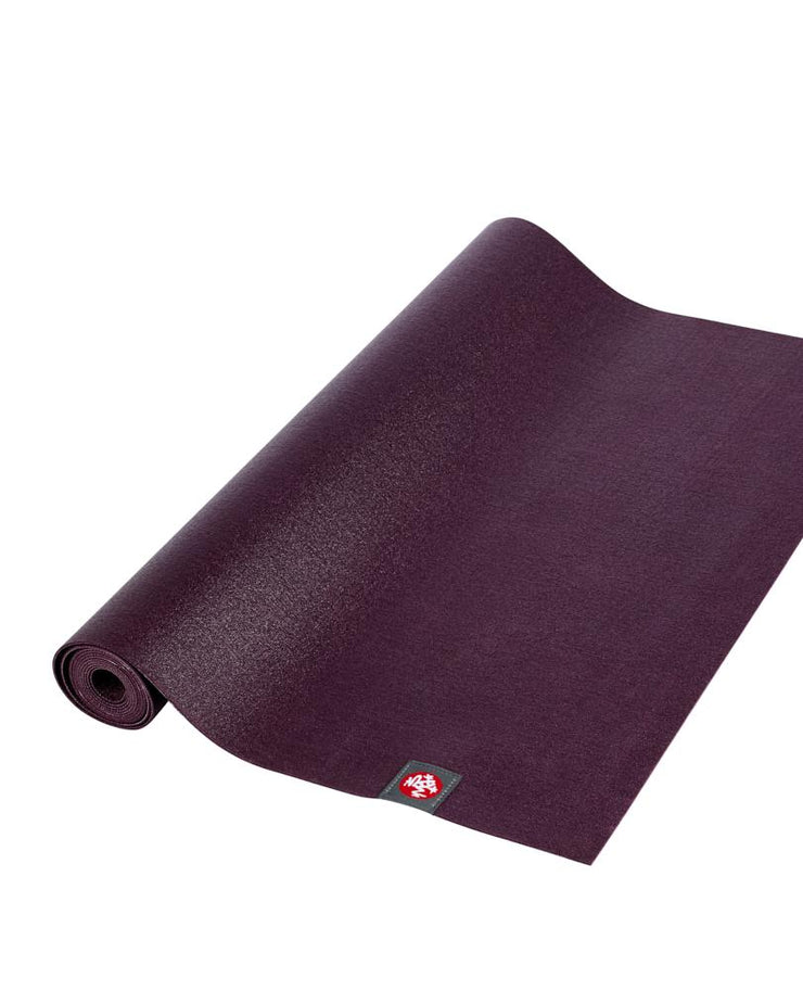 Manduka eKO Superlite 1.5mm Yoga Mat - Acai - part rolled | Eco Yoga Store