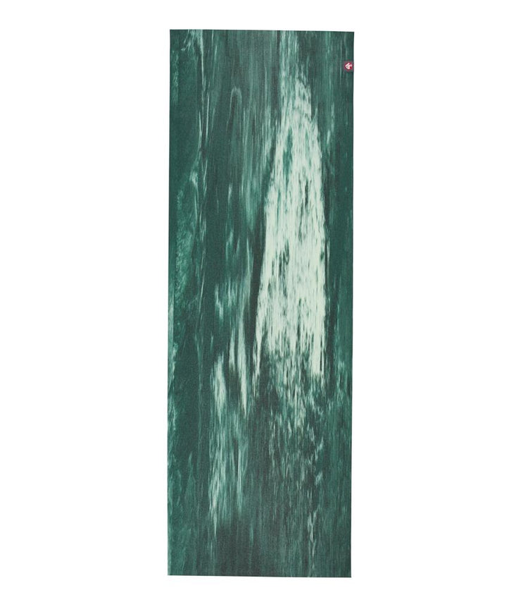 Manduka eKO Superlite 1.5mm Yoga Mat - Deep Forest Marbled - unfurled | Eco Yoga Store
