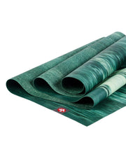 Manduka eKO Superlite 1.5mm Yoga Mat - Deep Forest Marbled - folded | Eco Yoga Store