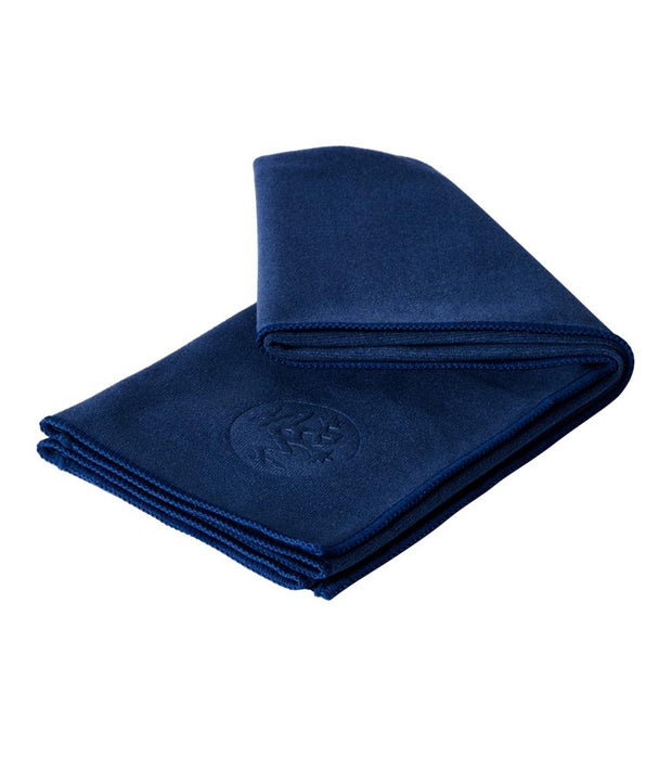Manduka eQua Hand Towel - Midnight - folded | Eco Yoga Store