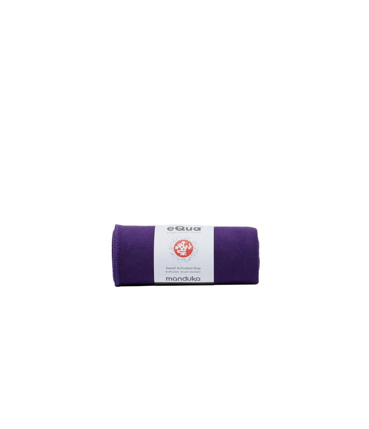 Manduka eQua Hand Towel - Magic - rolled | Eco Yoga Store