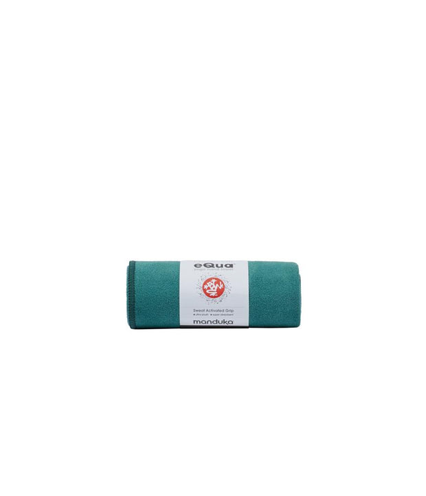 Manduka eQua Hand Towel - Tropical Surf - rolled | Eco Yoga Store