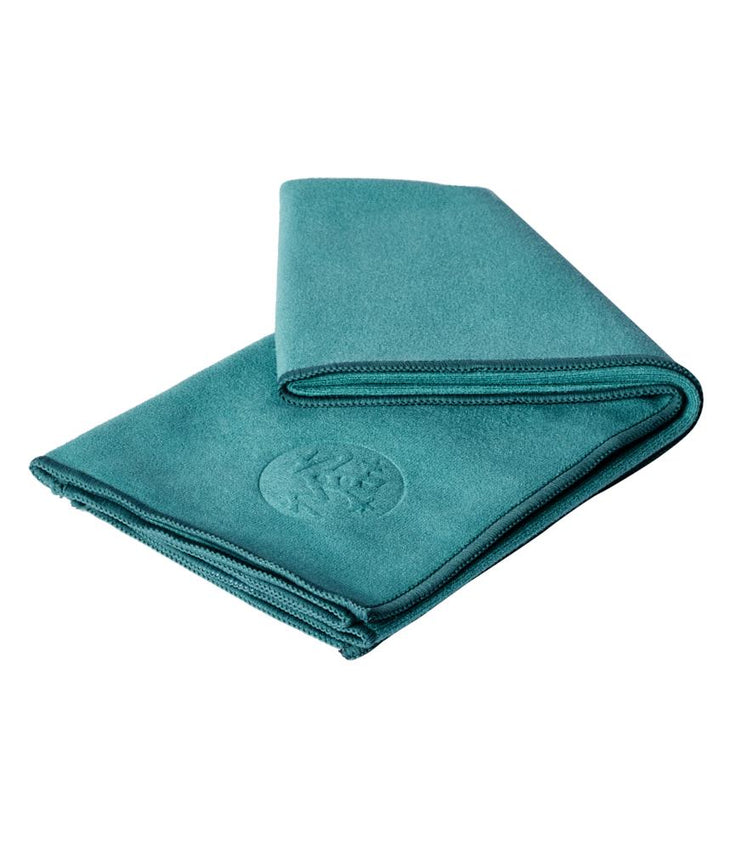 Manduka eQua Hand Towel - Tropical Surf - folded | Eco Yoga Store
