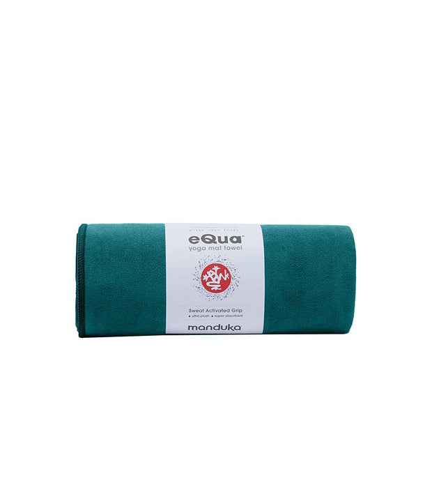 Manduka eQua Mat Towel - Tropical Surf - rolled | Eco Yoga Store