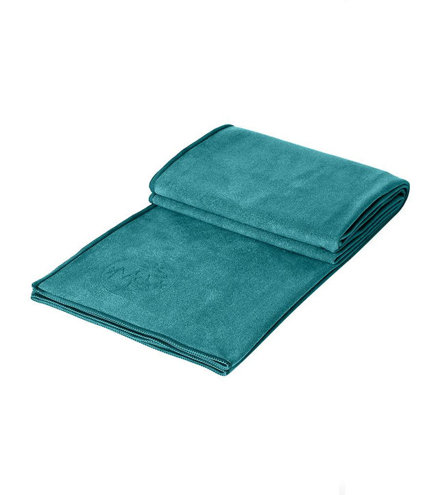 Manduka eQua Mat Towel - Tropical Surf - folded | Eco Yoga Store