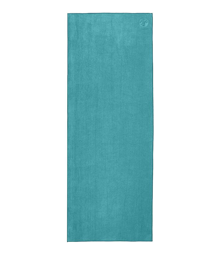 Manduka eQua Mat Towel - Tropical Surf - unrolled | Eco Yoga Store
