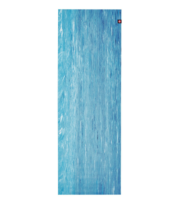 Manduka eKO Superlite 1.5mm Yoga Mat - Dresden Blue Marbled - unfurled | Eco Yoga Store