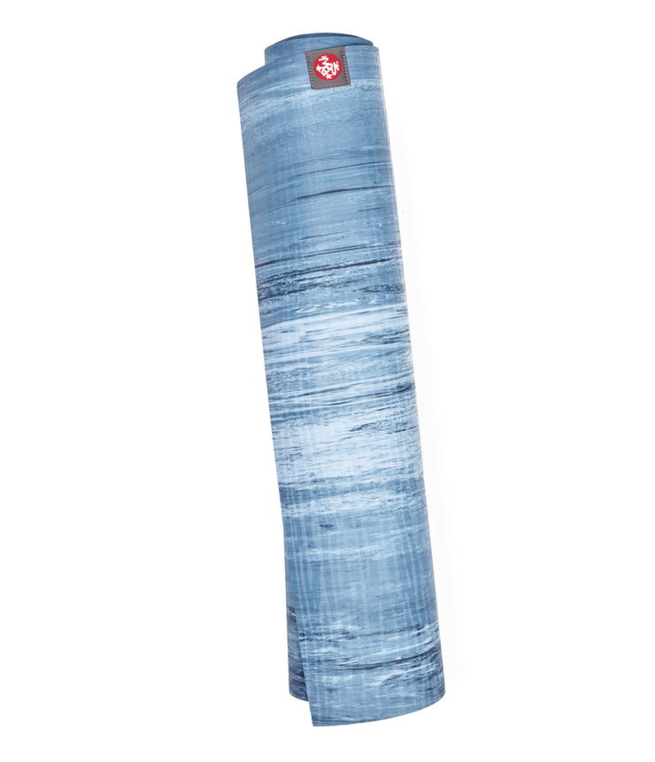 Manduka eKOLite 5mm Yoga Mat - Ebb - rolled vertical | Eco Yoga Store
