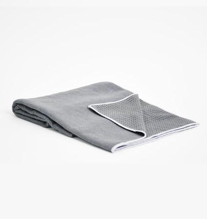 TRIBE Get a Grip Towel - Storm - folded with corner turned over | Eco Yoga Store