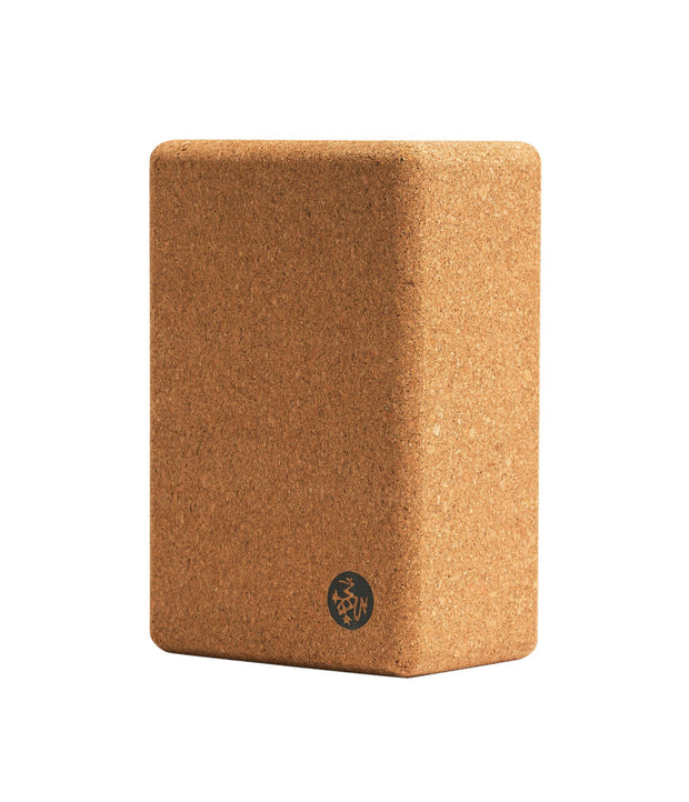 Manduka Cork Yoga Block - vertical profile | Eco Yoga Store