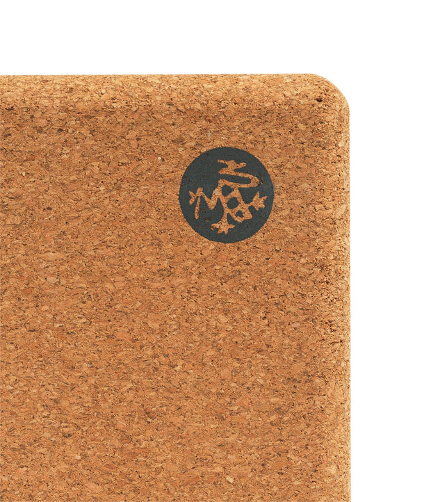 Manduka Cork Yoga Block - logo | Eco Yoga Store