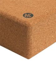 Manduka Cork Yoga Block - corner profile | Eco Yoga Store