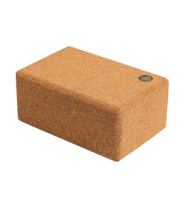 Manduka Cork Yoga Block - horizontal profile | Eco Yoga Store
