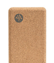 Manduka Lean Cork Yoga Block - logo | Eco Yoga Store