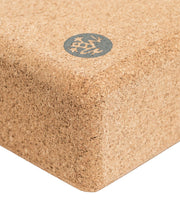 Manduka Lean Cork Yoga Block - corner profile | Eco Yoga Store