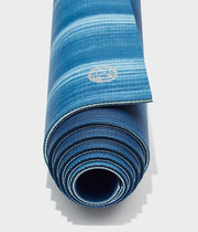 Manduka PRO 6mm Yoga Mat - Sea Foam Colour Field - rolled end on | Eco Yoga Store