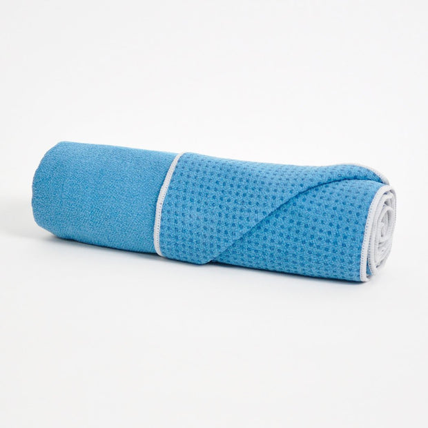 TRIBE Get a Grip Towel - Denim | Eco Yoga Store