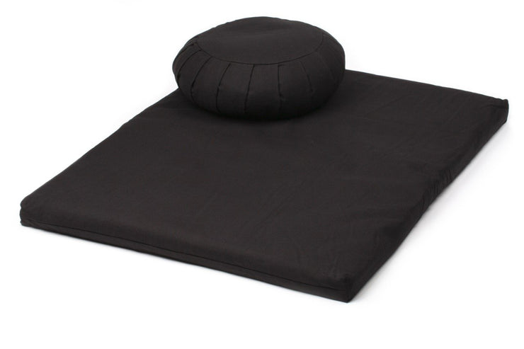 TRIBE - Zabuton Meditation Mat paired with Zafu Meditation Cushion - Maroon | Eco Yoga Store