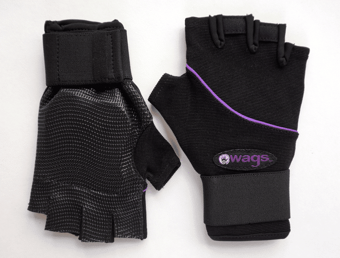 WAGS Wrist Support Gloves - Ultra - Black - palm and top side by side | Eco Yoga Store