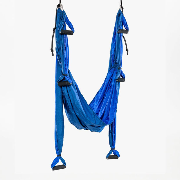 TRIBE Aerial Yoga Swing - Blue - suspended | Eco Yoga Store