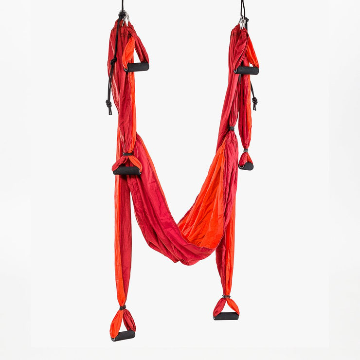 Aerial Yoga Swing - Red - suspended - TRIBE | Eco Yoga Store