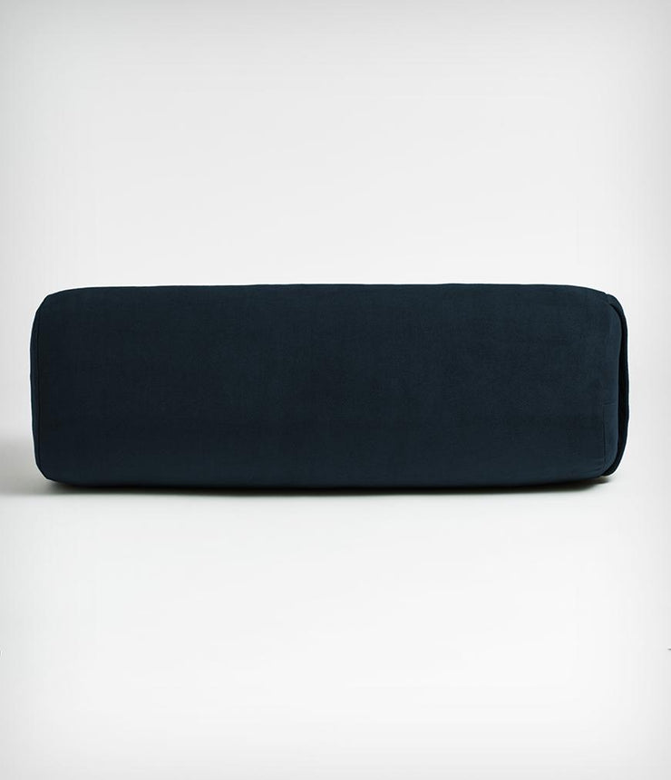 Manduka Enlight Round Bolster - Midnight - face on | Eco Yoga Store