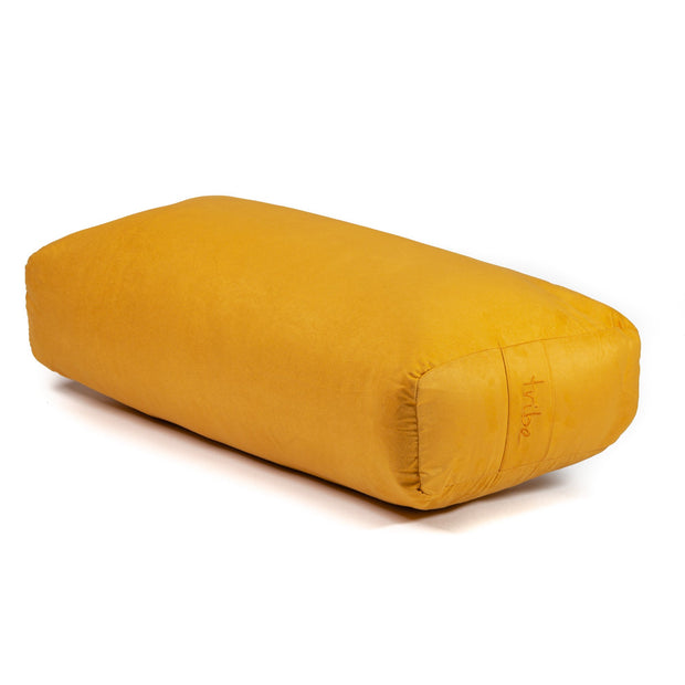 TRIBE Rectangular Bolster - Gold - 45 degrees angle | Eco Yoga Store
