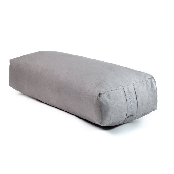 TRIBE Rectangular Bolster - Storm - 45 degrees angle | Eco Yoga Store