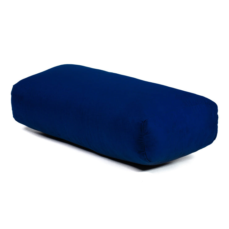 TRIBE Rectangular Bolster - Navy - 45 degrees angle | Eco Yoga Store