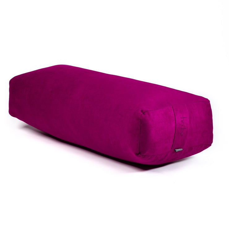 TRIBE Rectangular Bolster - Azalea - 45 degrees angle | Eco Yoga Store