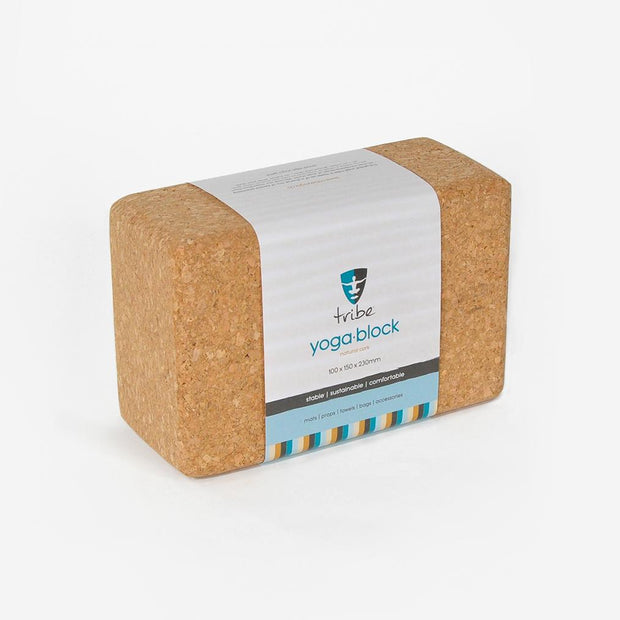 TRIBE Cork Block Standard in packet | Eco Yoga Store