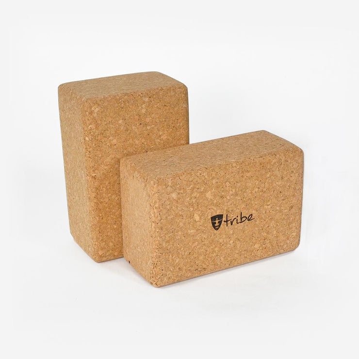 TRIBE Cork Block Standard in packet horizontal & vertical | Eco Yoga Store