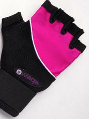 WAGS Wrist Support Gloves - Ultra - Pink - left hand palm side | Eco Yoga Store