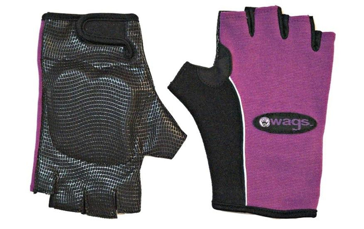 WAGS PRO Wrist Support Gloves - Pro - Purple - top & palm sides | Eco Yoga Store