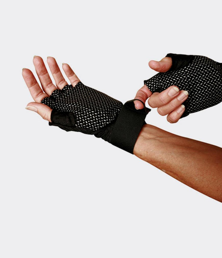 WAGS Wrist Support Gloves - Ultra - shown on left and right hand | Eco Yoga Store