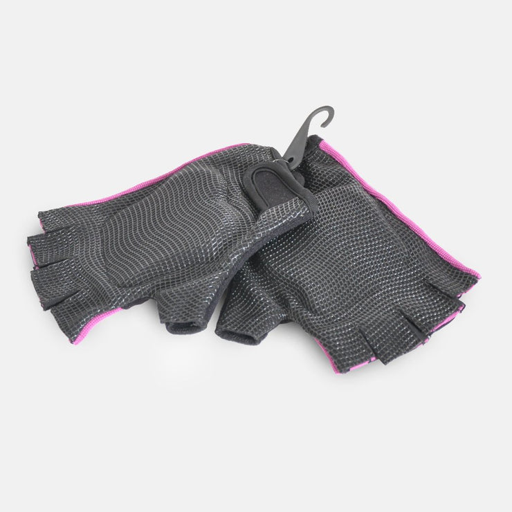 WAGS PRO Wrist Support Gloves - Pink - palm side | Eco Yoga Store