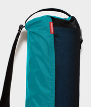 Manduka Breathe Easy Yoga Mat Bag - Harbour - Vertical - top section with strap | Eco Yoga Store