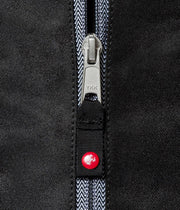 Manduka Go Light 3.0 Mat Carrier - Black - close-up of zipper | Eco Yoga Store