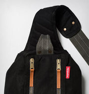 Manduka Journey On Local Mat Bag - Black - strap detail | Eco Yoga Store