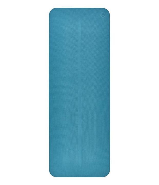 Manduka Begin Mat 5mm Yoga Mat - Bondi Blue - lying flat | Eco Yoga Store