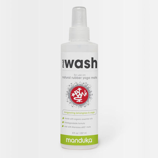 Manduka Mat Wash - Natural Rubber - Lemongrass & Sage - 237ml bottle | Eco Yoga Store