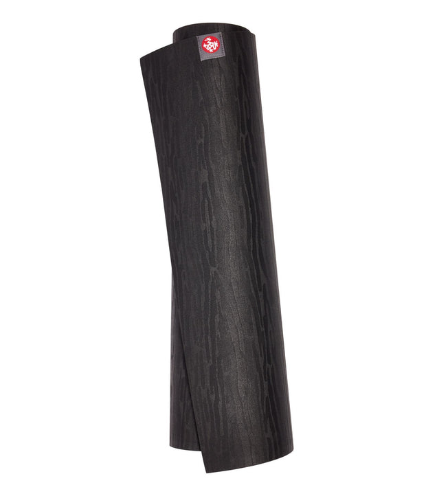 Manduka eKO 6mm Yoga Mat - Black - vertical rolled | Eco Yoga Store