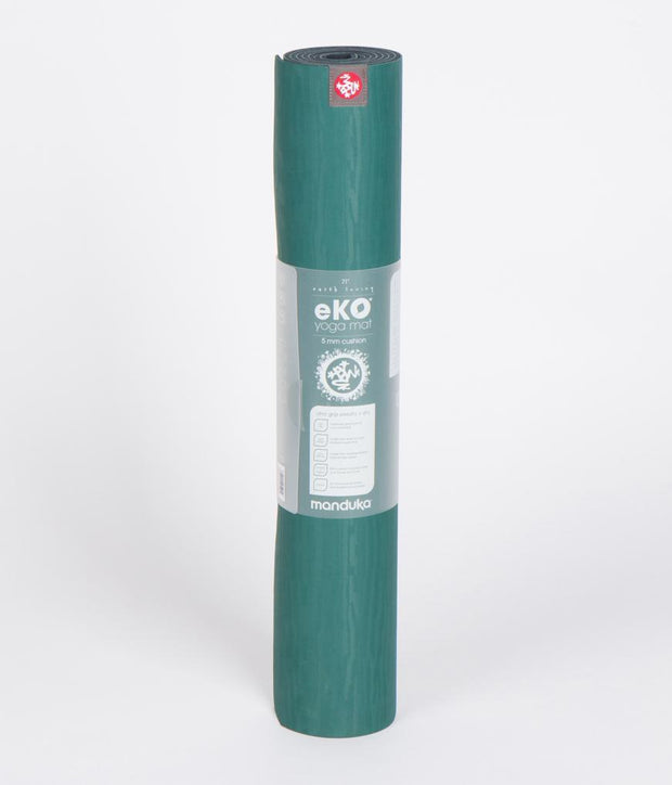 Manduka eKO 6mm Yoga Mat - Sage - vertical rolled | Eco Yoga Store