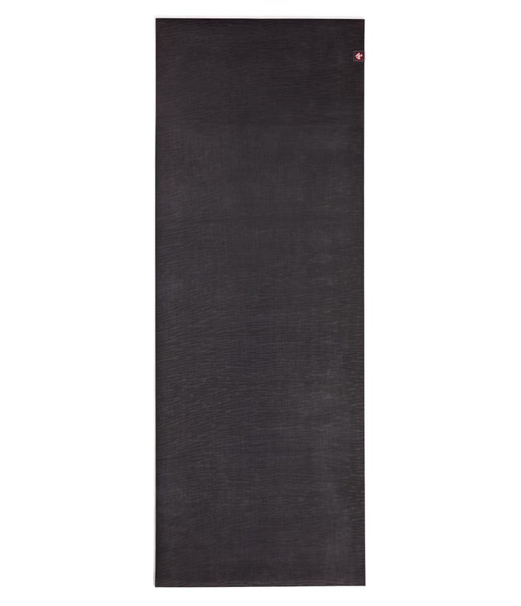 Manduka eKO 6mm Long Yoga Mat - Charcoal - unfurled | Eco Yoga Store