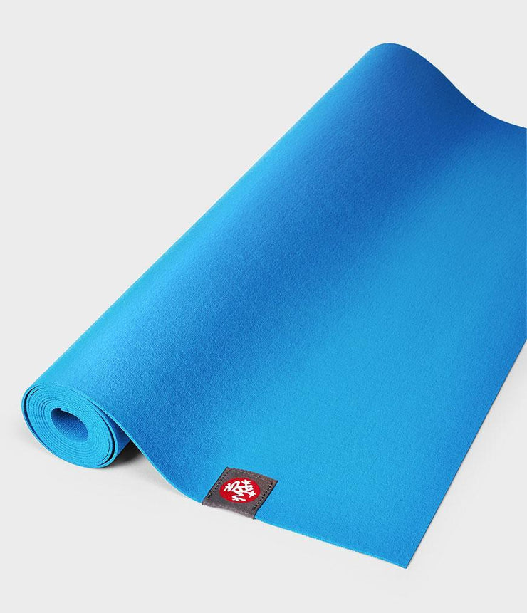 Manduka eKO Superlite 1.5mm Yoga Mat - Dresden Blue - rolled flat | Eco Yoga Store