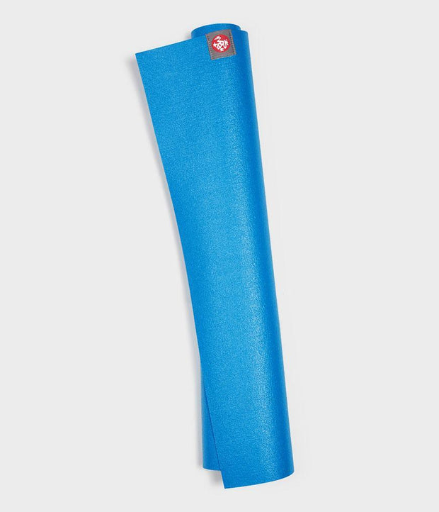 Manduka eKO Superlite 1.5mm Yoga Mat - Dresden Blue - rolled vertical | Eco Yoga Store