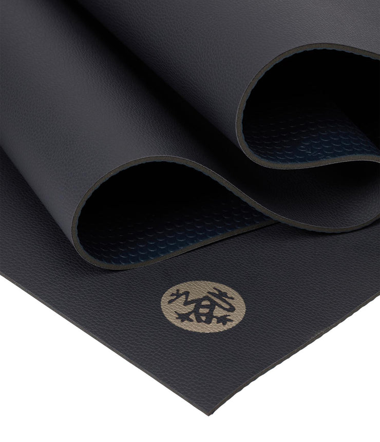 Manduka GRP Lite 4mm Hot Yoga Mat - Midnight - folded | Eco Yoga Store